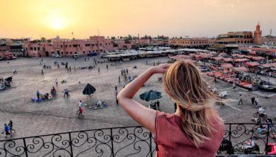 سائحة في مراكش - المغرب