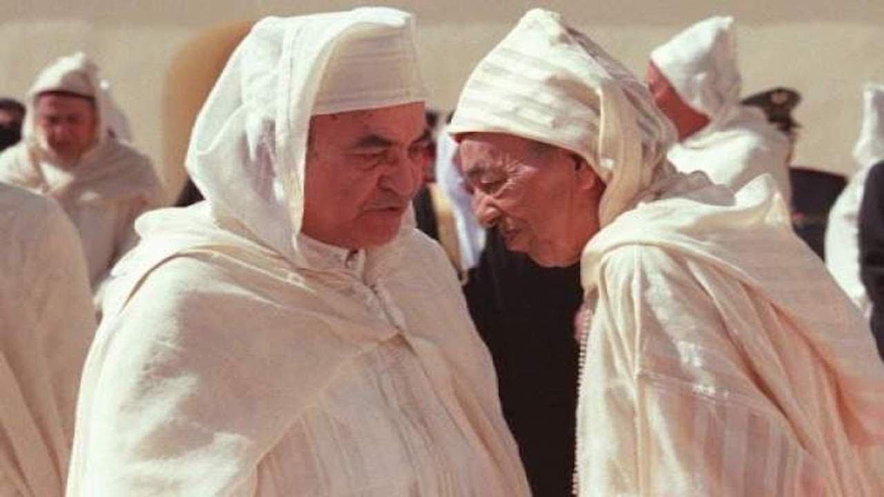 الملك الراحل الحسن الثاني وعبد الرحمن اليوسفي
