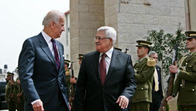 محمود عباس جو بايدن Mahmoud Abbas Joe Biden