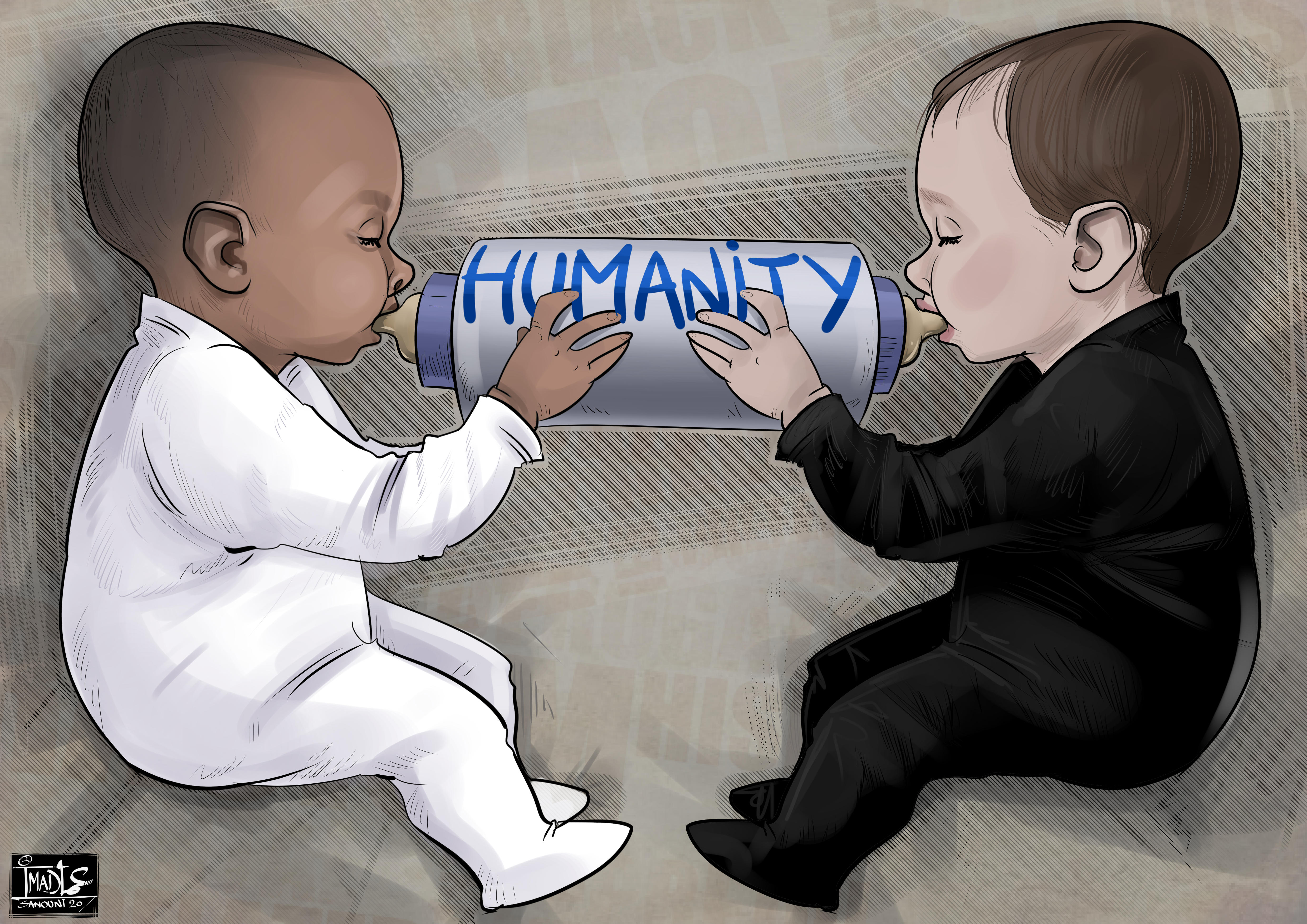 on naît humain racisme
